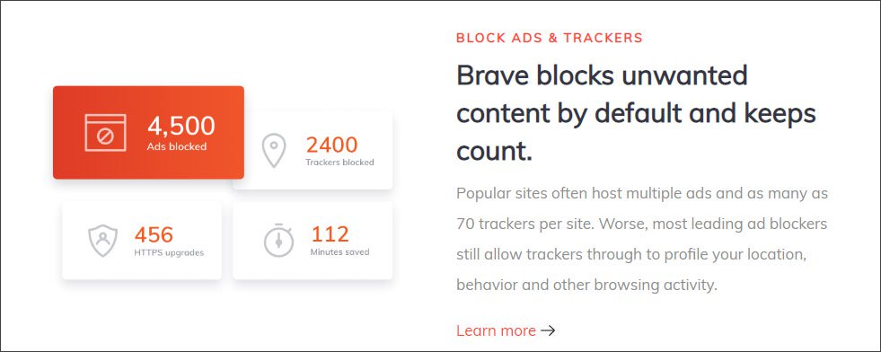 Brave Tracking Protection Feature Description
