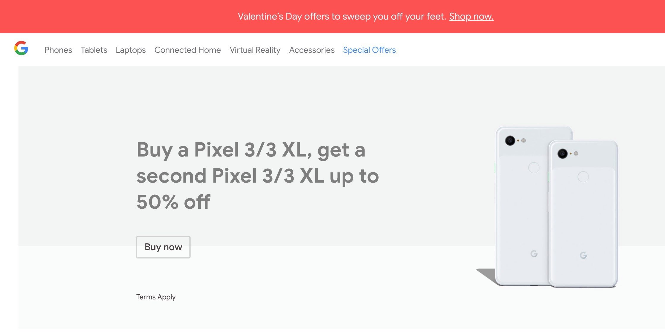 Google Store brings back Pixel 3 & 3 XL BOGO 'up to 50% off' deal for February