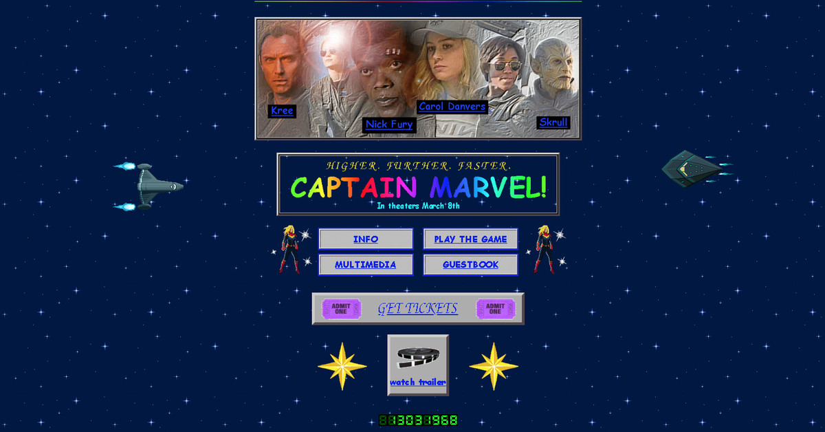 Marvel launched a delightful, retro website to promote Captain Marvel
